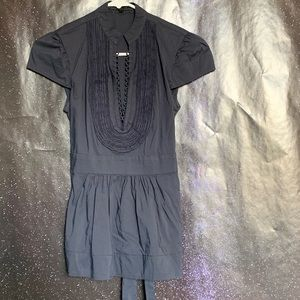 BCBGMAXAZRIA- Black Tie in back Blouse size xs